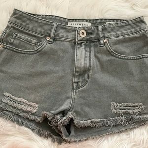 Size 5 Bullhead GrayDenim High Rise Cut-Off Shorts